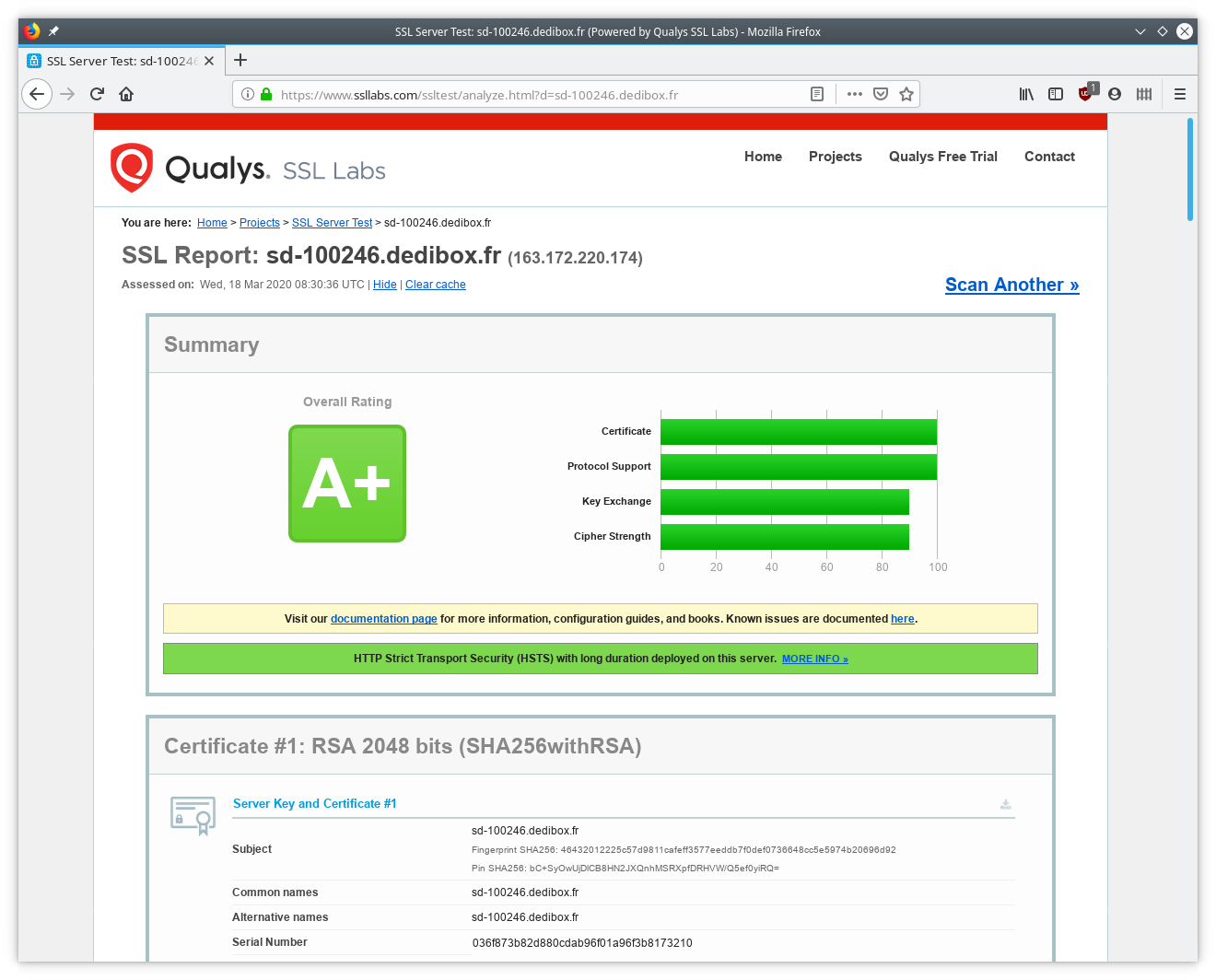 Qualys Labs SSL Test