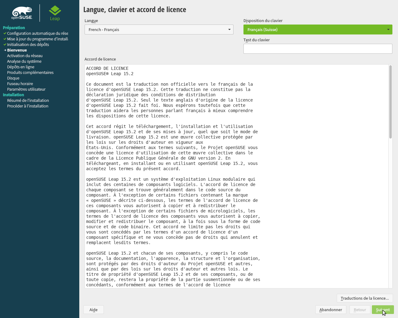 OpenSUSE Leap 15.2 Installation